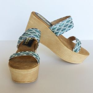 NEW Sbicca Platform Wedge Sandals
